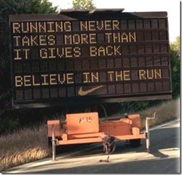 Believe in the run.