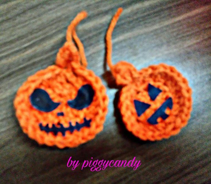 Calabazas crochet Pumping by facebook.com/piggycandyrecuerdos