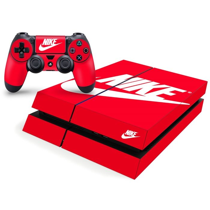 74a4bad95e0a5 Playstation 4 Console Skin - Nike Shoe Box Red Decal | Gaming ...