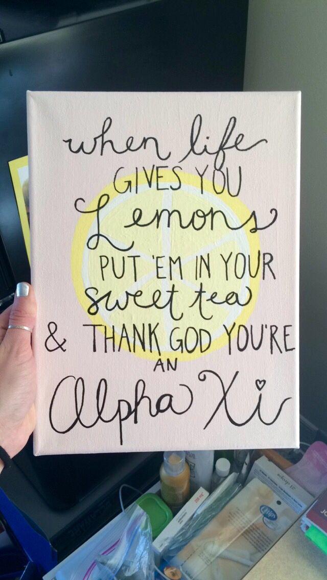 Alpha xi delta canvas #azd #alphaxi #sweettea