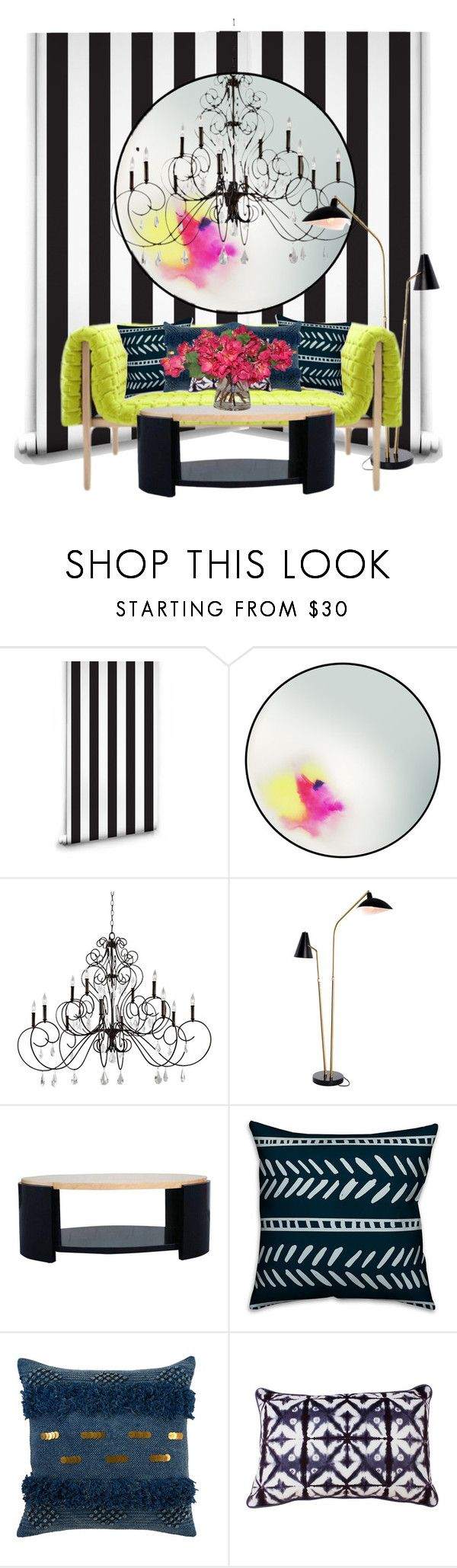 """""""Neon meets conservative..."""" by gloriettequartet ❤ liked on Polyvore featuring interior, interiors, interior design, home, home decor, interior decorating, Petite Friture, Feiss, Nuevo and Ligne Roset"""