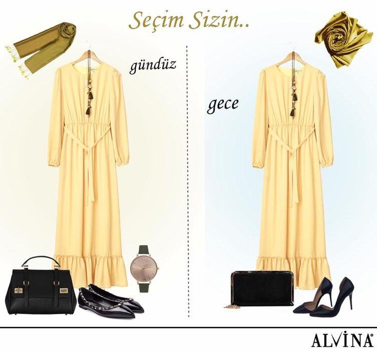Gündüz sadeliği veya gece şıklığı tercih sizin... #alvina #alvinamoda #alvinafashion #alvinaforever #hijab #hijabstyle #hijabfashion #tesettür #fashion #stylish #seçimsizin #gündüzsadeliği #geceşıklığı