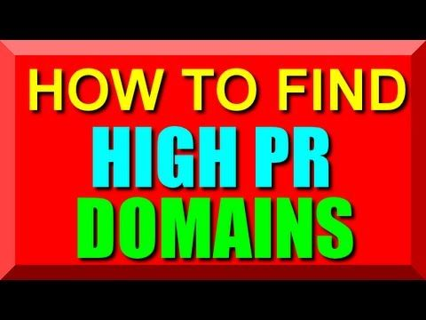 How To Find High Pr Aged Domains - High Pagerank Domian Name Finder