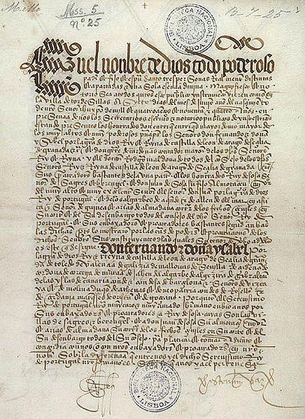 Estórias da História: 07 de Junho de 1494: Assinatura do Tratado de Tord...