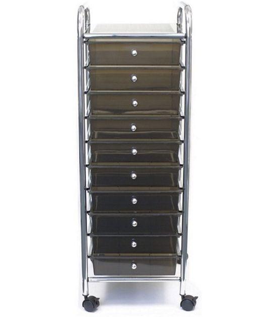 Cropper Hopper Home Storage Rolling Organizer  - 10 Drawer