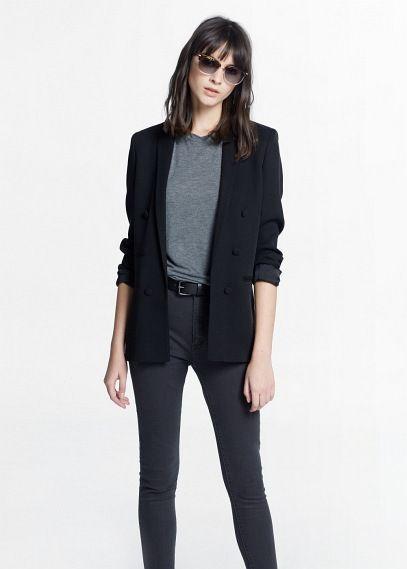 Veste double boutonnage - Vestes pour Femme | MANGO Outlet France