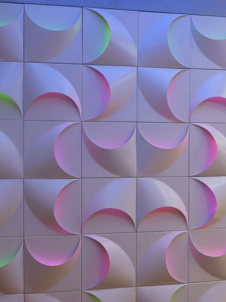 Led textured panels at the 100% Design Fair in London. Photo by Milou Ket
