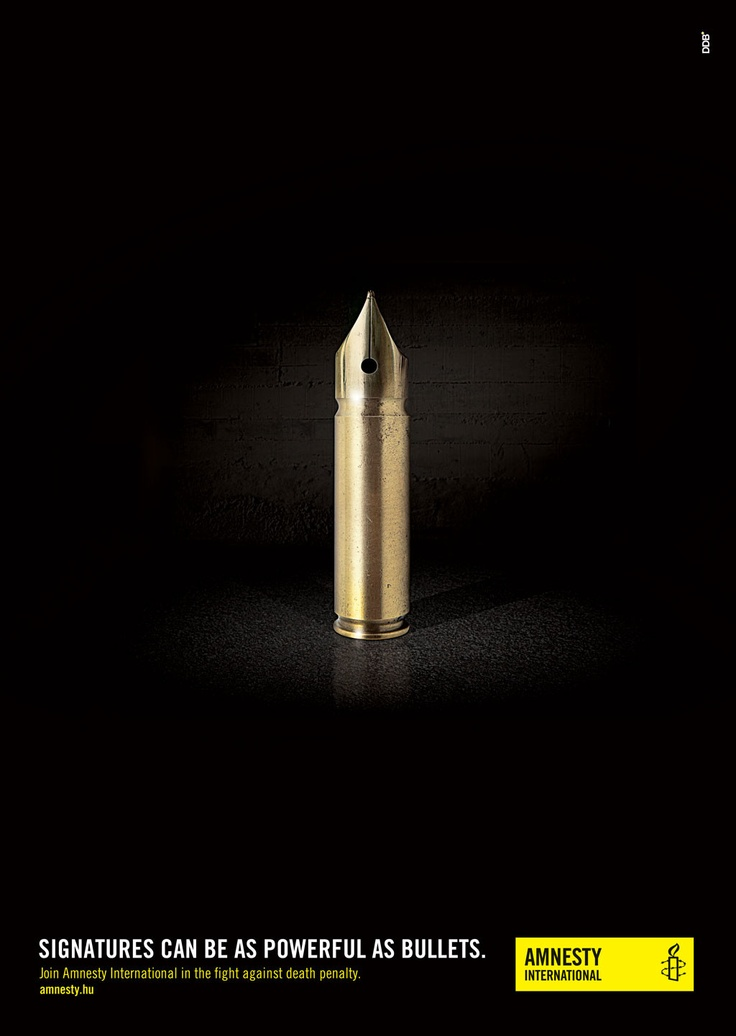 Signatures can be as powerful as bullets: http://amnestyusa.org/armstrade