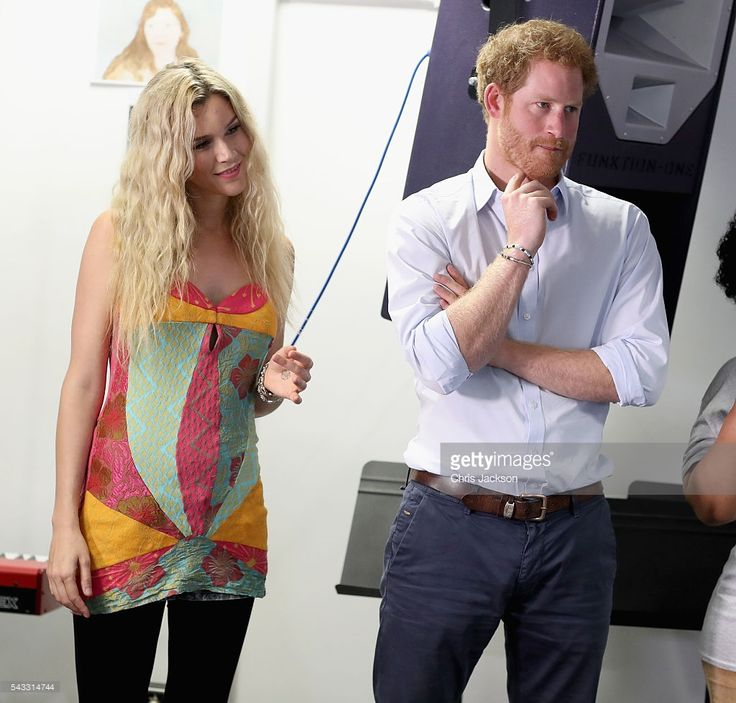 Prince Harry and Joss Stone watch the Basotho Youth Choir, made up of six boys and six girls, aged between 7 and 19 years old, rehearse at the Brit School on June 27, 2016 in London, England. The Basotho Youth Choir will perform alongside Sentebale Ambassador Joss Stone at tomorrow's Sentebale Concert at Kensington Palace, headlined by Coldplay. The choir members have all been supported by Sentebale's Secondary School Bursaries Progamme or Care for Vulnerable Children Programme. The…