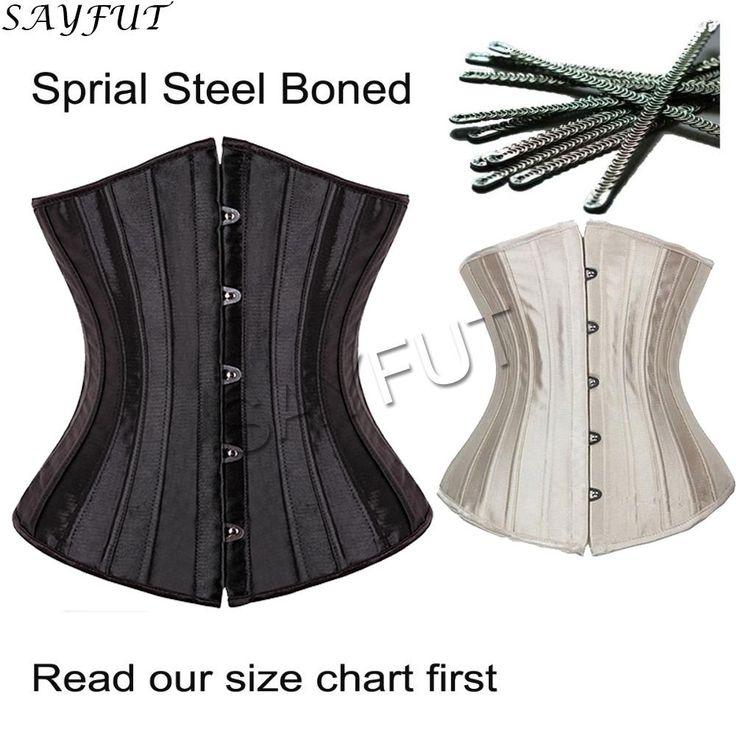 X Hot 28 Spiral Steel Boned Women Waist Trainer Corsets And Bustiers Body Cincher Black/Beige Plus Size Underbust Top Lingerie