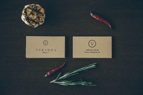 Veranda restaurant branding