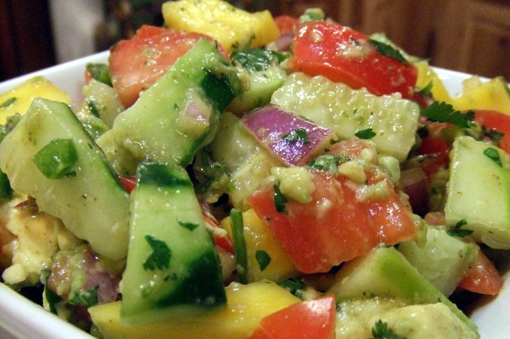 The salsa makes a great side dish for lots of meals or would be refreshing all on it's own.