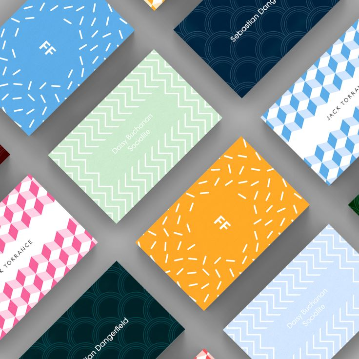 A selection of Pattern business card templates available to customise and order on our site.
