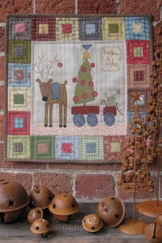 Projeto Hatched and Patched - Countdown to Christmas - Projetos « True Friends | Quilt | Patchwork | Patchcolagem | Tecidos Importados