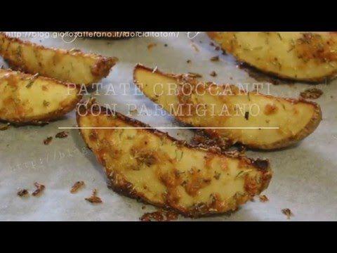 Patate al forno croccanti con parmigiano, con video ricetta
