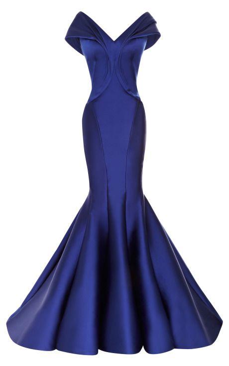 Draped Duchesse Satin Gown by Zac Posen - Moda Operandi