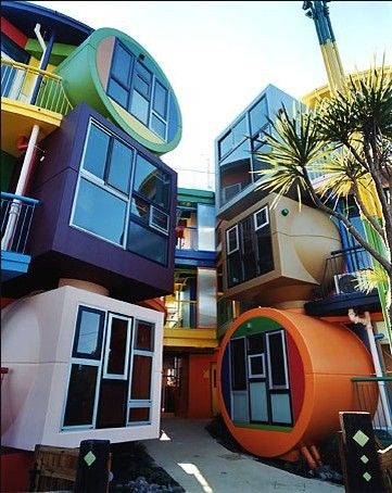 colorful houses in Japan