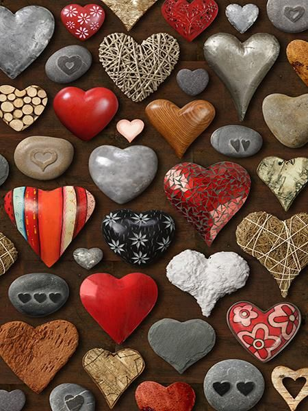 Kate Valentine's Day Heart of Stones Photography Backdrop