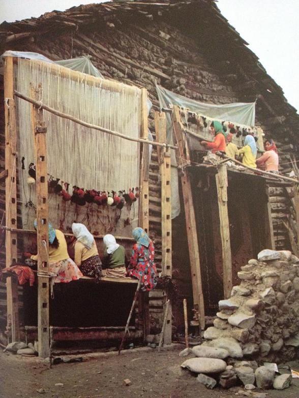 Rug weavers, Iran.