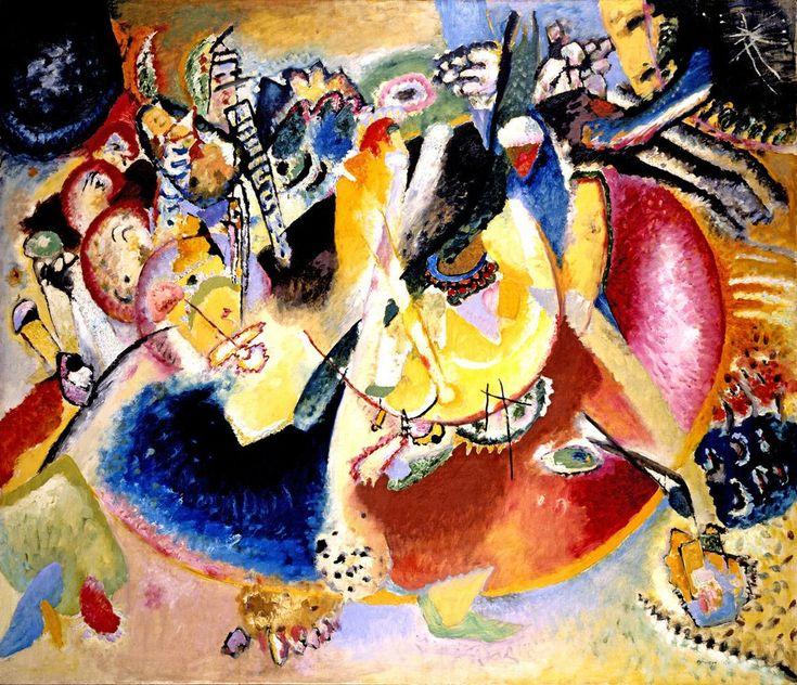 Kandinsky Improvvisazione con forme fredde 1914
