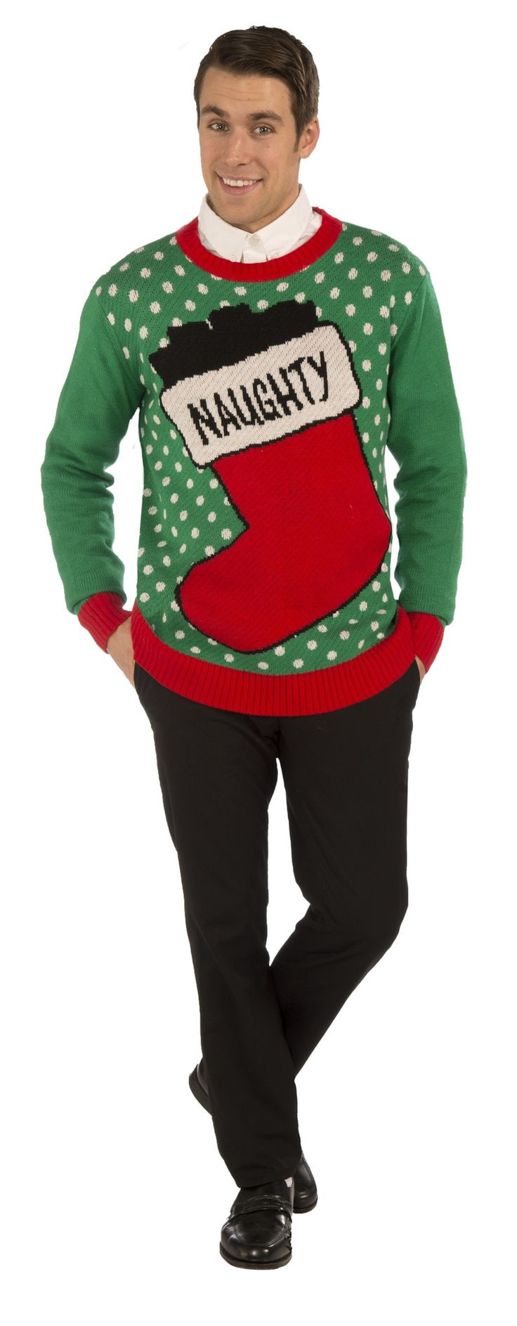 * Retro style Christmas sweater * 100% Polyester material * Hand wash * Great for holiday parties, family gatherings and more! * Brand new in manufacturer packaging