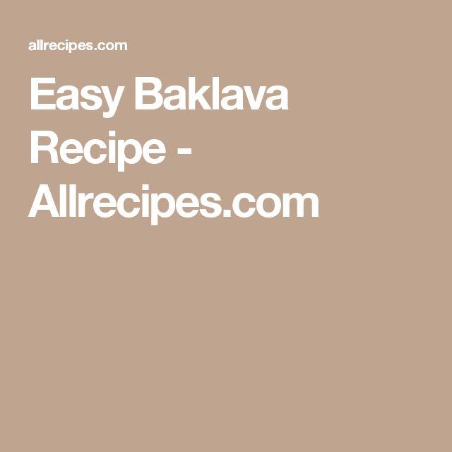 Easy Baklava Recipe - Allrecipes.com