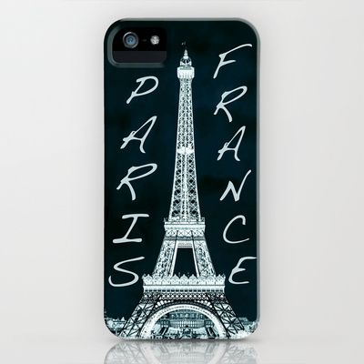 La Tour Eiffel - The Eiffel tower inverse with text iPhone & iPod Case by Bruce Stanfield - $35.00
