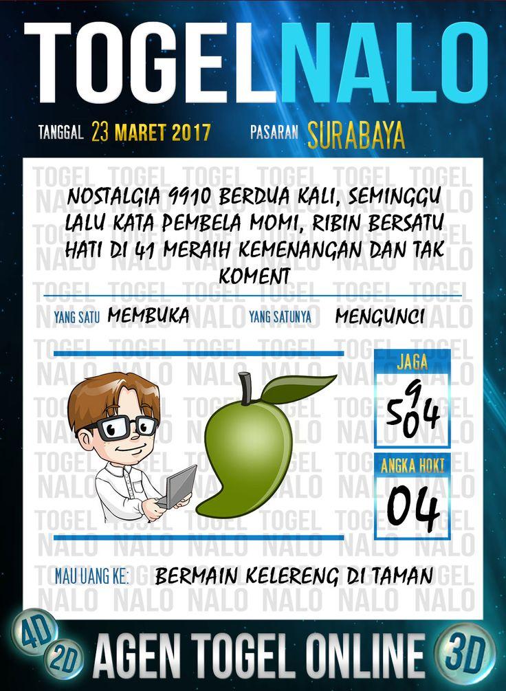 Kode Angka 4D Togel Wap Online TogelNalo Surabaya 23 Maret 2017
