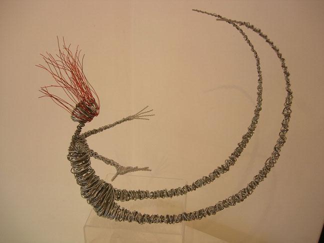 Small curling  - Wire Sculpture by Rachel Ducker
