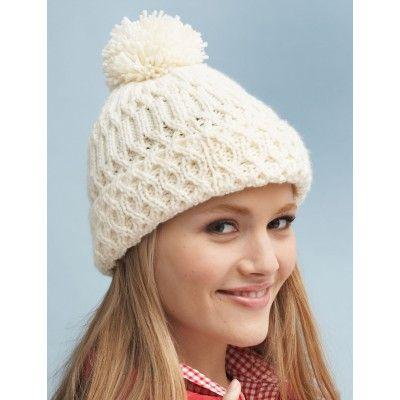 Men s Hat Knitting Pattern Straight Needles : 1000+ ideas about Aran Knitting Patterns on Pinterest Aran Sweaters, Double...