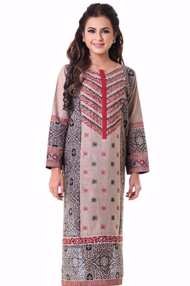 Pakistani Designer Khaddar Kurti Available Online By Gul Ahmed Winter Collection 2017 In Brown Color. #wintercollection  #blackfriday #readytowear #pretwear  #unstitched #online  #linen #linencollection  #lahore #karachi #islamabad #newyork #london  #pakistan #pakistani #indian #alkaram #breakout #zeen  #khaadi #sanasafinaz #limelight #nishat #khaddar #daraz #gulahmed #2017 #2018  #blackfriday #pakistani_dresses #best_price #indian_dresses