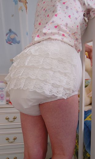 White Frilly Pants A Abdl Pinterest Plastic Pants