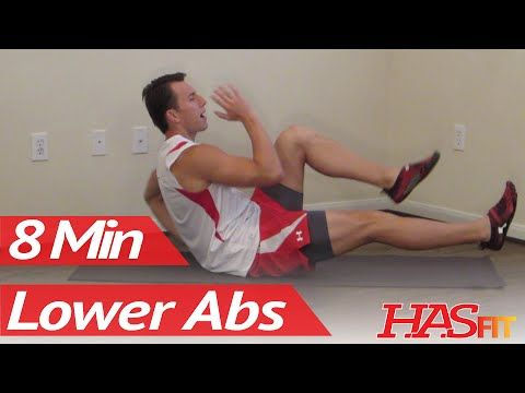 12 Min 6 Pack Workout at Home for Men & for Women - HASfit Six Pack Abs Exercises Ab Workouts - YouTube