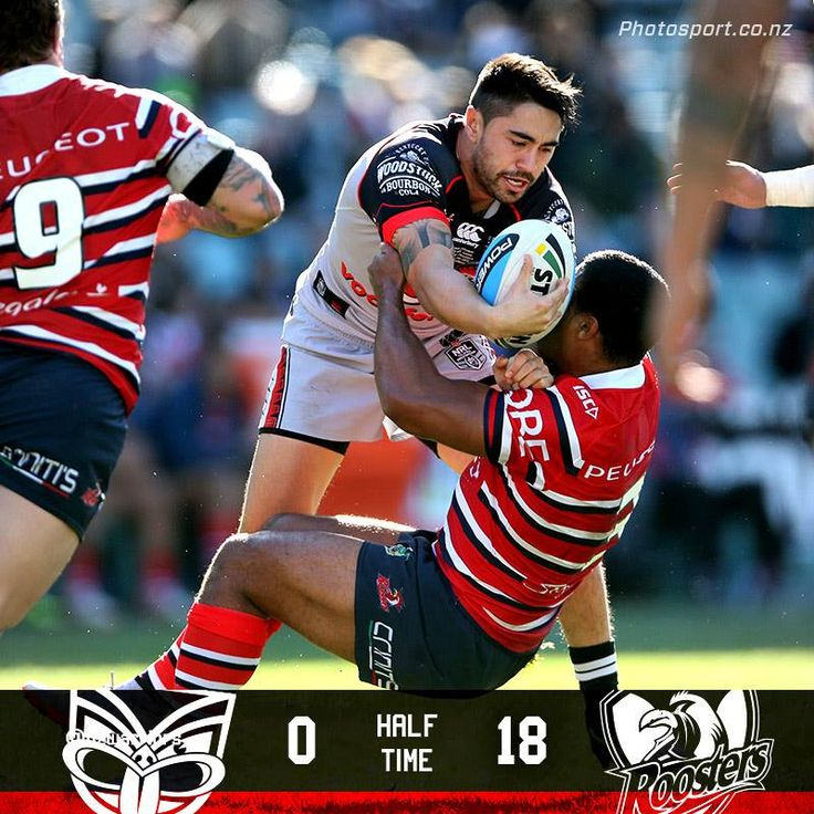 HALF TIME - Roosters go into the sheds with an 18-0 lead.