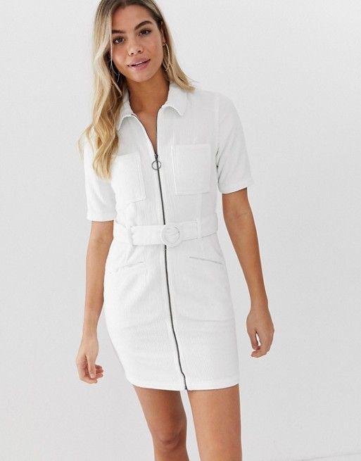 0b100c4a7 DESIGN cord mini dress with belt in white in 2019 | urban renewal ...