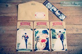 Cartes de remerciement mariage MCJ