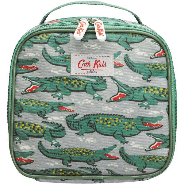 Cath Kidston Green Crocodile Print Lunch Bag (575 TWD) ❤ liked on Polyvore featuring bags and fillers