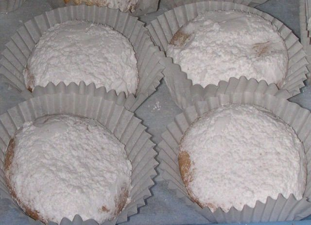 Kourambiethes Special Greek Cookies: You'll find these with and without a clove in the center.