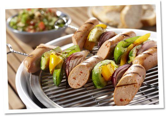 Spies met Pittige worst en groenten #Tivall #vegetarisch #recept