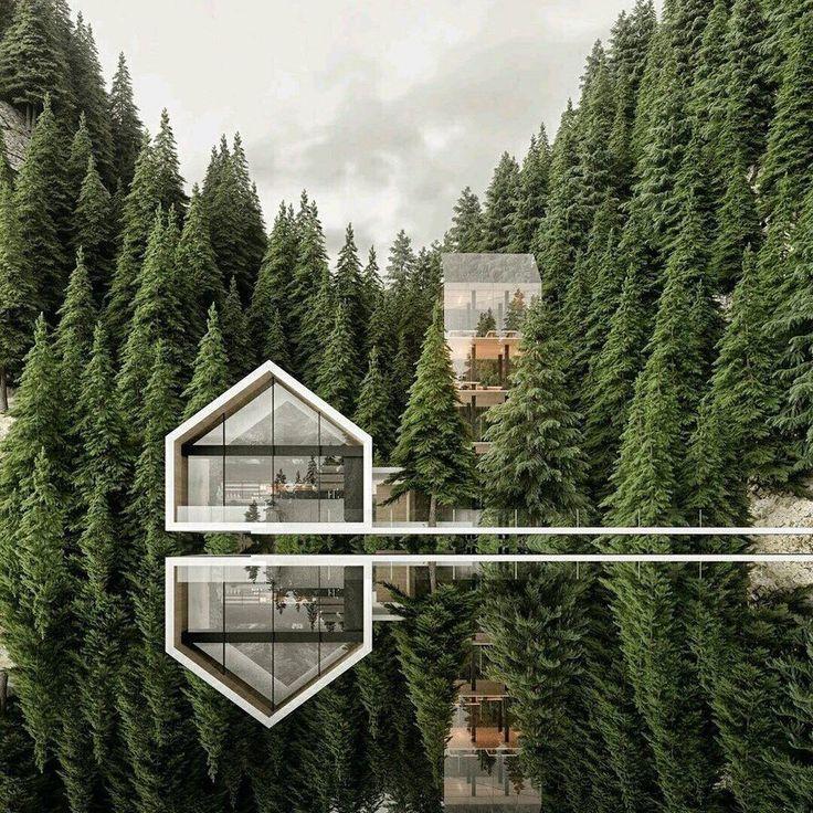 Satteldach integriert sich durch Flächenband