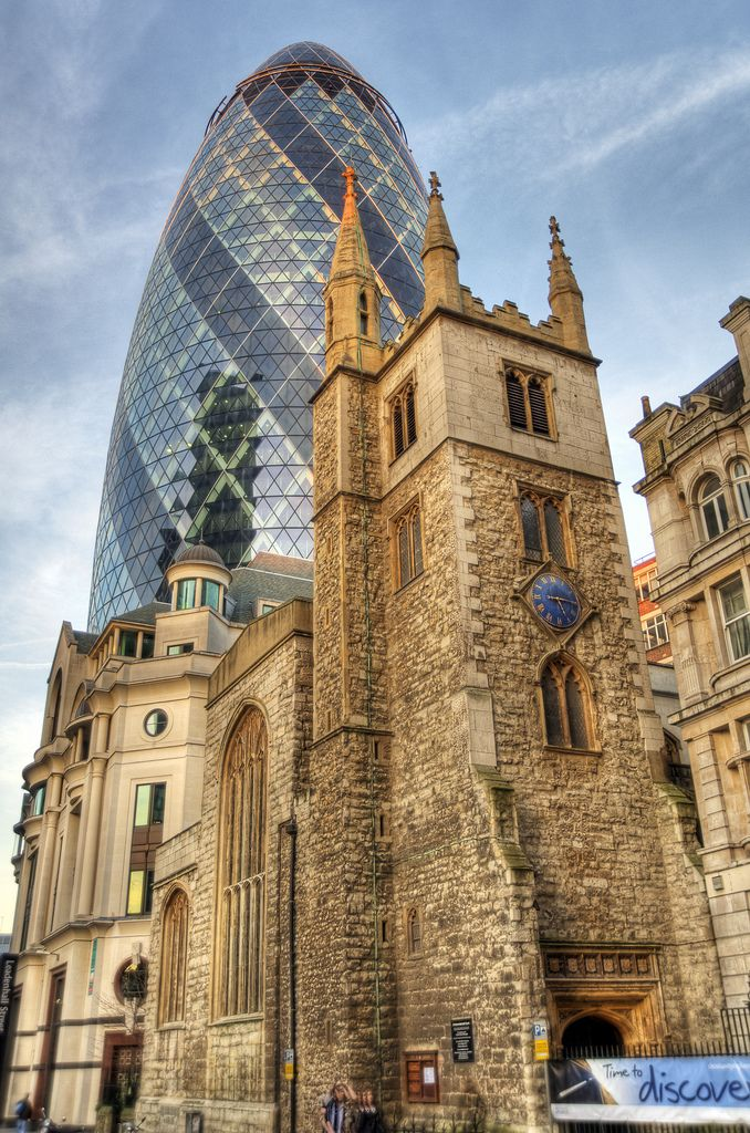Something old, something gherkin. [I'd lock that architect up in the Tower of London. Forever.]