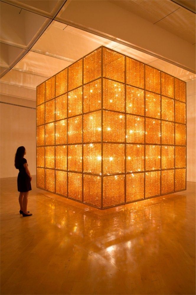 "Artist Ai Weiwei's ""Cube Light"" was featured as part of his ""Ai Weiwei: According to What?"" installation at the Smithsonian's Hirshhorn Museum in Washington D.C. (via Arch daily; photo: Cathy Carver)"