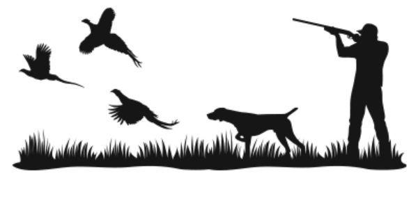 Картинки охотник и собака черно белые, поздравительные ангелочками