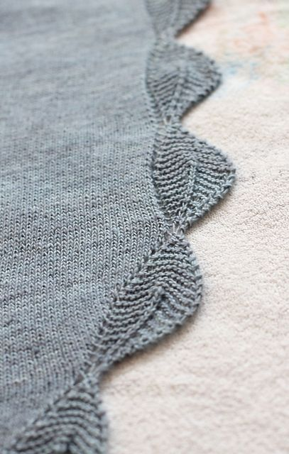 Grey version of the Knit Garden View Shawlette by Tracey Withanee - free Ravelry download