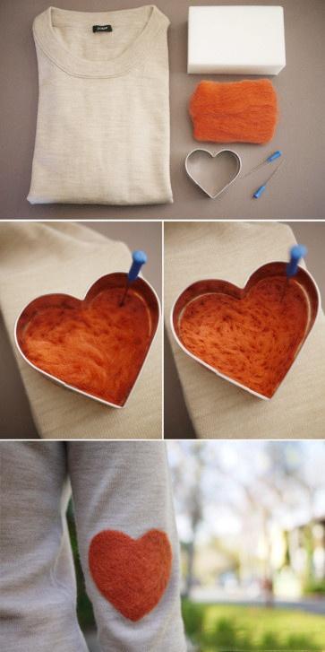 Votre vieux T-shirt, une laine feutrée décorative petits  Taobao vous aimez la forme du moule, puis poche poke, est la décoration de votre propre et unique.  [A balles groupe