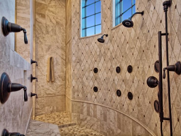 Master Bath Oversized Walk Thru Shower By Zbranek Holt