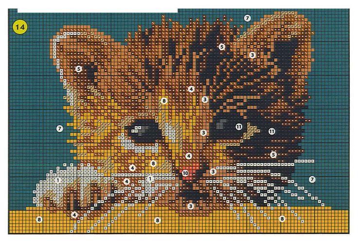 Peeking cat xstitch patt (pocket idea?)