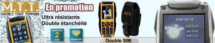 Téléphones mobiles double sim ultra résistants