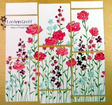 6 Pretty Cards with One Sheet of the Painted Blooms DSP from Flowerbug's Inkspot