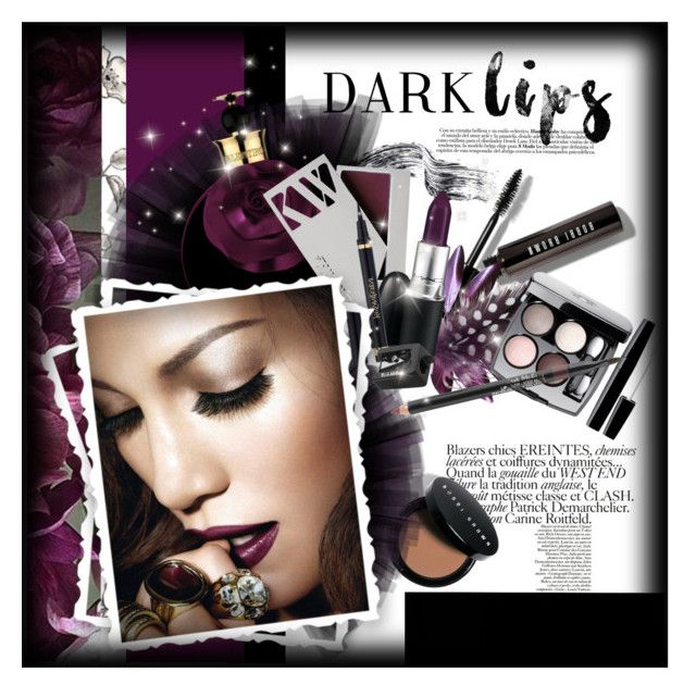 """Dare to Wear: Super Dark Lipstick"" by giudittina ❤ liked on Polyvore featuring beauty, Bobbi Brown Cosmetics, Kjaer Weis, MAC Cosmetics, Yves Saint Laurent, Chanel, Trish McEvoy and darklips"